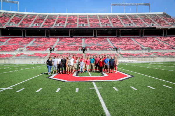 Group photo at OSU Field