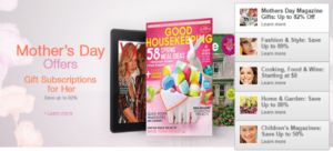 Amazon Magazine Subscriptions - Mother's Day Gifts 2015