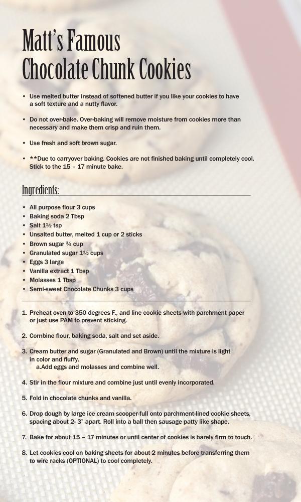 matt cookie recipe