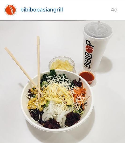 A build your own bowl at Bibibop
