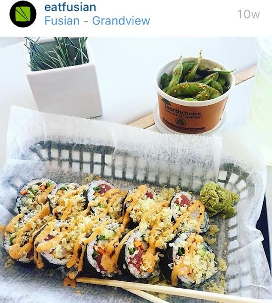 A create your own sushi roll with a side of edamame